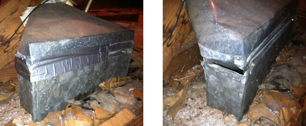 how to close off gaps in furnace ducts