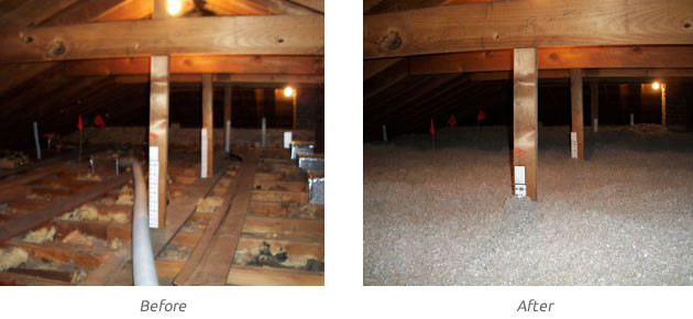 1-2attic-before-and-after-blown-in-insulation & Attic Insulation | Insulwise | Pittsburgh PA