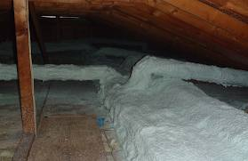 Typical-leaky-and-poorly-insulated-attic-duct-work & Duct Sealing with AeroSeal of Pittsburgh